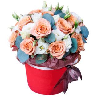Цветы в коробке «Зефир»
